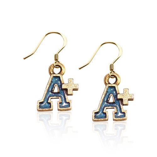 Image of A+ Charm Earrings in Gold