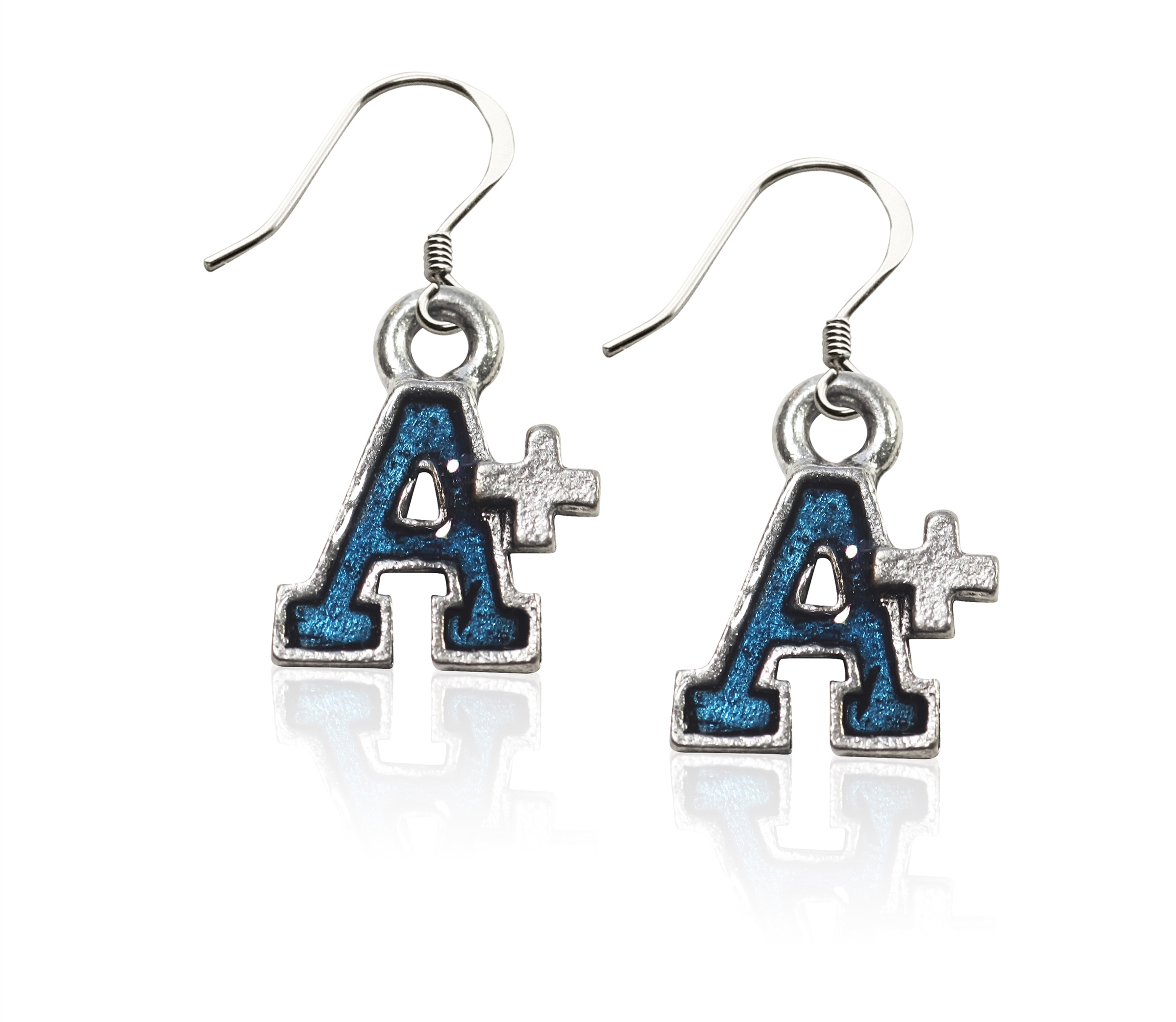 Image of A+ Charm Earrings in Silver