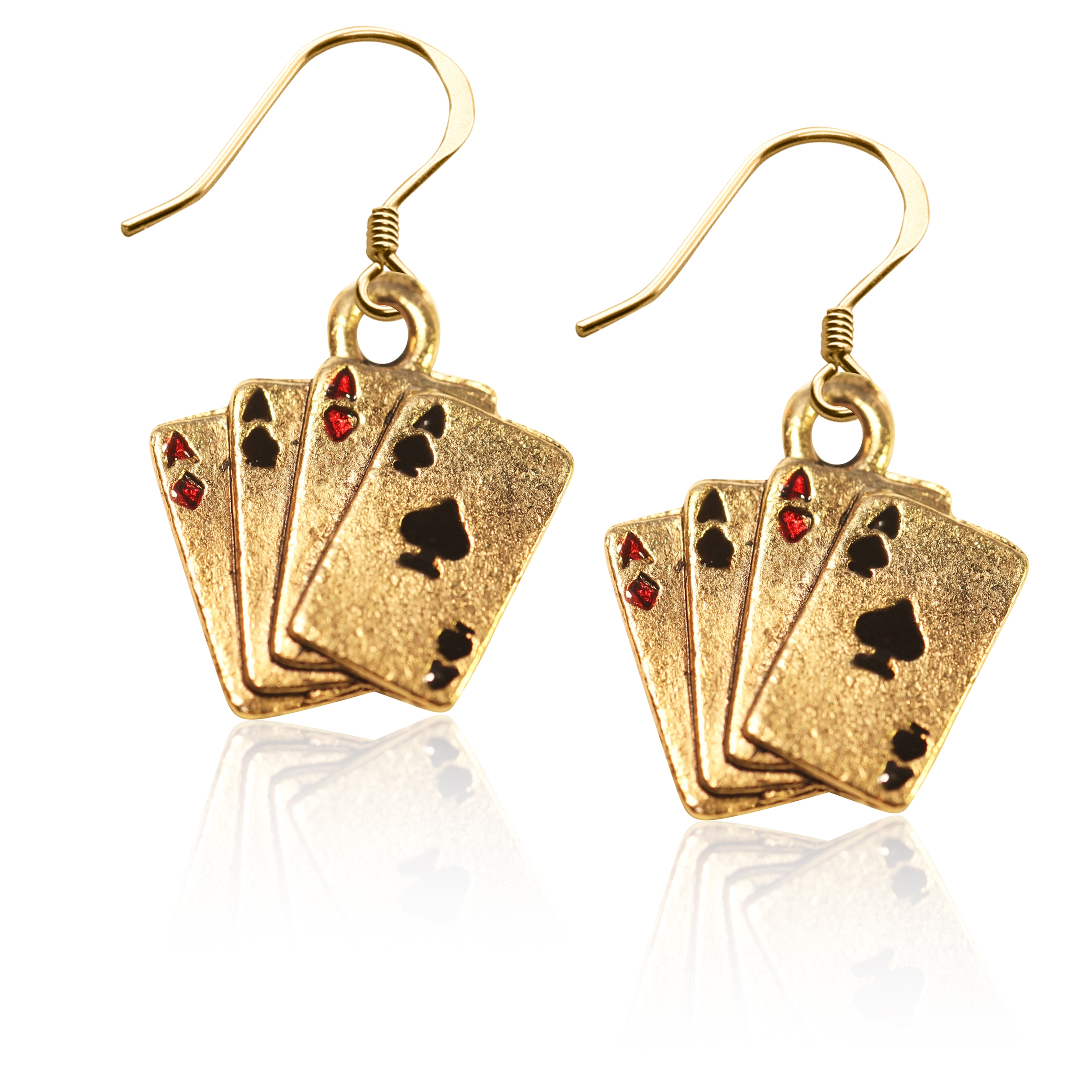 Image of Aces Charm Earrings in Gold