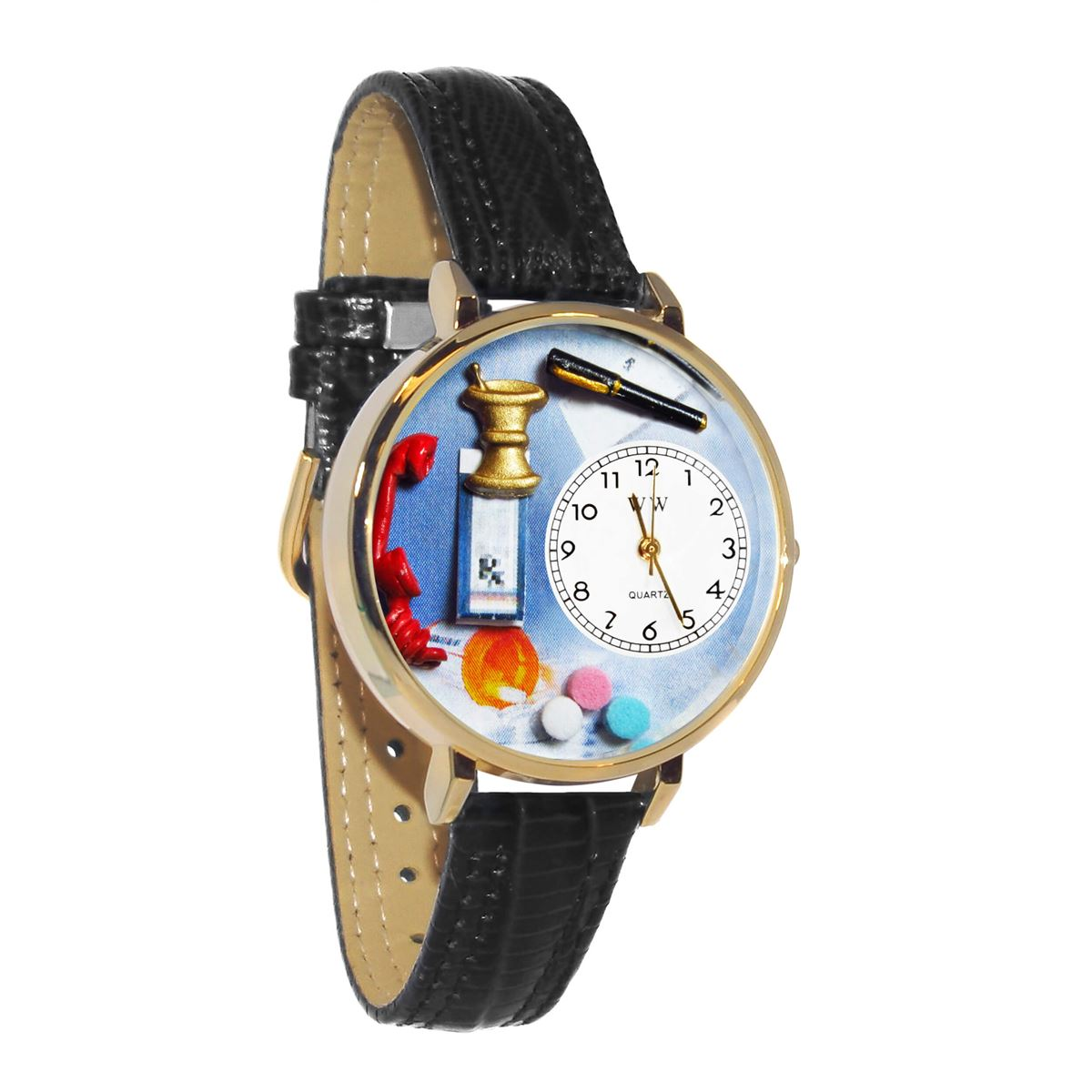 Pharmacist Watch in Gold (Large)