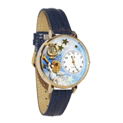 Image of Angel with Harp Watch in Gold (Large)