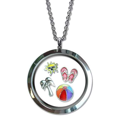 Beach Lover Floating Locket