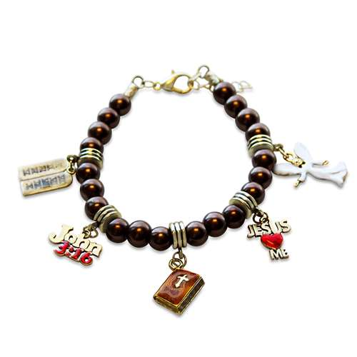 Religious Charm Bracelets: Religious Charm Bracelet In Gold